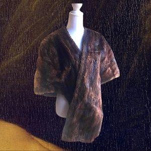 MInk Stoll in dark Brown fur Vintage 1950s